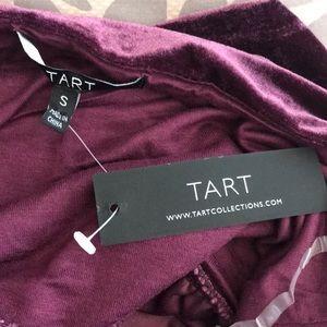 Tart Tops - Tart, Keyhole velvet Peplum Blouse, Wine tasting